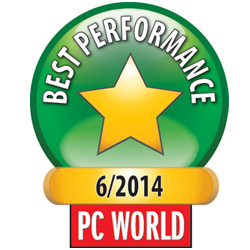2014 – PC World inkjet cartridge test - Efficient printing? ActiveJet is unbeatable