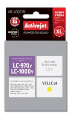 ActiveJet AB-1000YR (ABR-1000Y) tusz yellow do drukarki Brother, ref. (zamiennik Brother LC1000Y, Brother LC970Y)