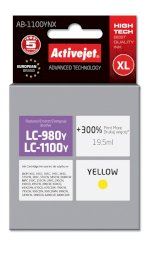 ACJ tusz Brother LC1100/LC980 Yellow AB-1100Y