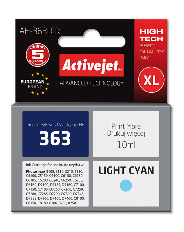 Remanufactured 363 C8774EE Light Cyan Ink Cartridge For HP Printers